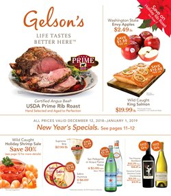 Water deals in the Gelson's weekly ad in Fullerton CA