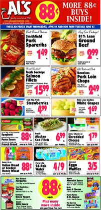 Al's Supermarket deals in the Valparaiso IN weekly ad