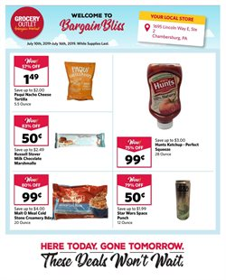 Grocery Outlet deals in the North Augusta SC weekly ad