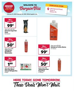 Discount Stores offers in the Grocery Outlet catalogue in San Francisco CA ( Expires today )