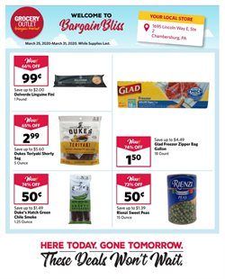 Grocery Outlet catalogue ( 3 days left )
