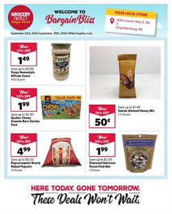 Discount Stores offers in the Grocery Outlet catalogue in Berkeley CA ( Expires tomorrow )