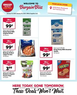 Discount Stores offers in the Grocery Outlet catalogue in Concord NC ( Expires tomorrow )