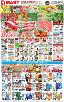 Refreshments deals in the Hmart weekly ad in New York