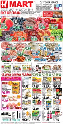 Water deals in the Hmart weekly ad in San Jose CA
