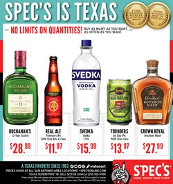 Spec's deals in the San Antonio TX weekly ad