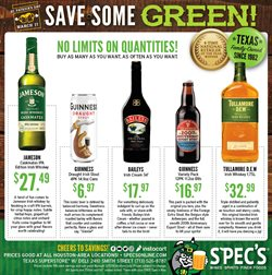 Spec's deals in the Houston TX weekly ad