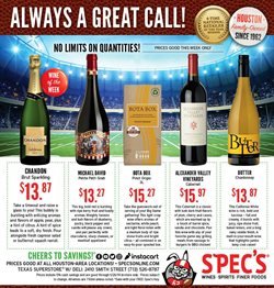 Games deals in the Spec's weekly ad in Sugar Land TX