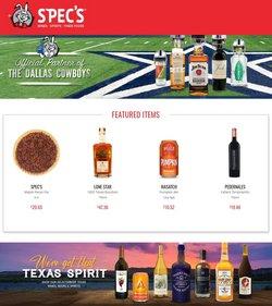 Grocery & Drug deals in the Spec's catalog ( 6 days left)