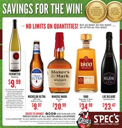 Spec's deals in the South Houston TX weekly ad