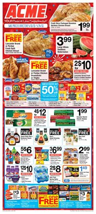 Tray deals in the ACME weekly ad in New York