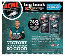Football deals in the ACME weekly ad in New York