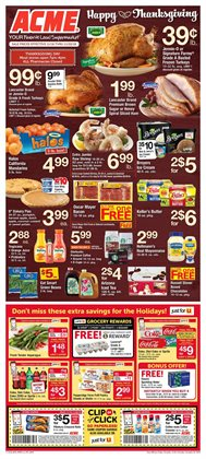 Tropicana deals in the ACME weekly ad in New York