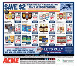 Stock deals in the ACME weekly ad in New York