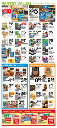 Cakes deals in the ACME weekly ad in New York