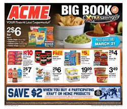 Kraft deals in the ACME weekly ad in New York