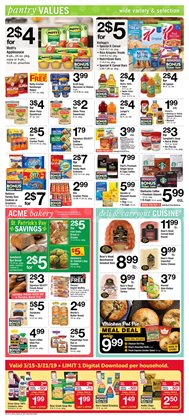 Nabisco deals in the ACME weekly ad in New York