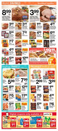 Lobster deals in the ACME weekly ad in New York