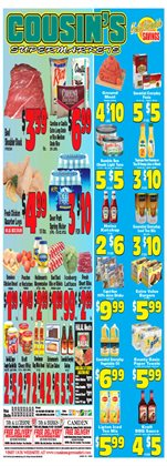 Cousin's Supermarket deals in the Philadelphia PA weekly ad