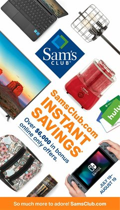Sam's Club deals in the Davis CA weekly ad
