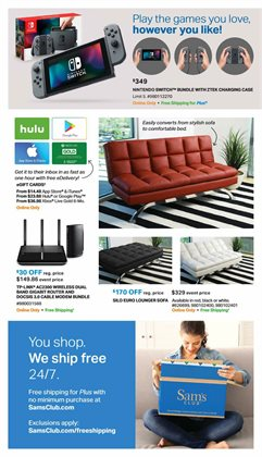 Bed deals in the Sam's Club weekly ad in Erie PA