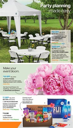 Table deals in the Sam's Club weekly ad in Garden Grove CA