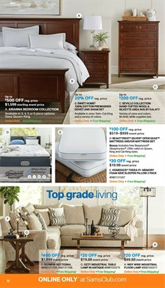 Mattress deals in the Sam's Club weekly ad in Kansas City MO