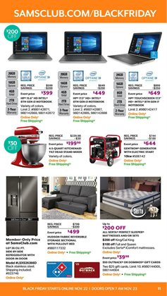 Generator deals in the Sam's Club weekly ad in San Antonio TX