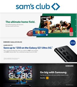 Sam's Club catalogue ( 1 day ago )