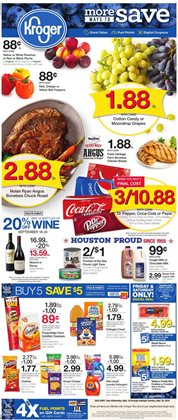 Kroger deals in the Houston TX weekly ad