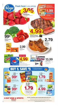 Kroger deals in the Charlotte NC weekly ad