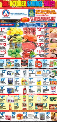 Yogurt deals in the Associated weekly ad in New York
