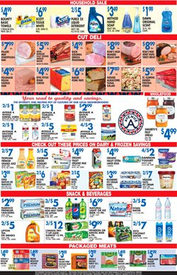 Desserts deals in the Associated weekly ad in New York