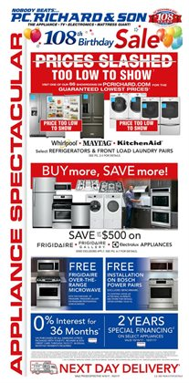 Electronics & Office Supplies deals in the P.C. Richard & Son weekly ad in New York