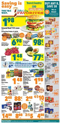 Town & Country deals in the Valparaiso IN weekly ad
