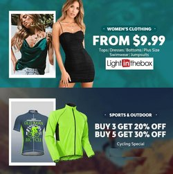 Clothing & Apparel deals in the LightIntheBox catalog ( Expires today)