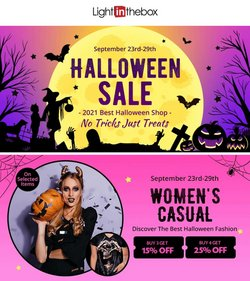 Clothing & Apparel deals in the LightIntheBox catalog ( Published today)