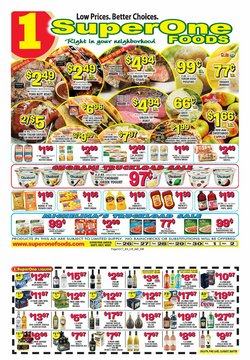 Grocery & Drug deals in the Super One Foods catalog ( 4 days left)