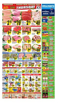 Football deals in the Superior Grocers weekly ad in Van Nuys CA