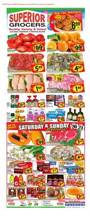 Superior Grocers deals in the Reseda CA weekly ad