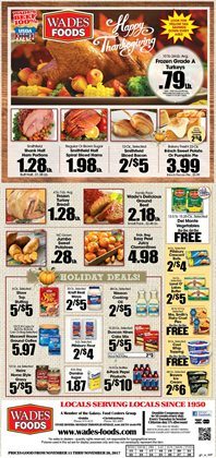 Wade's deals in the Christiansburg VA weekly ad