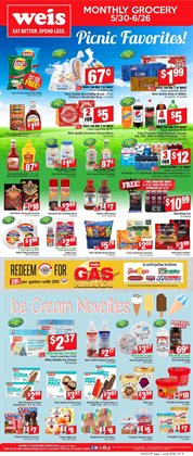 Grocery & Drug deals in the Weis Markets weekly ad in Philadelphia PA