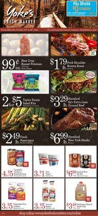 Yoke's Fresh Market deals in the Yoke's Fresh Market catalog ( Expires tomorrow)