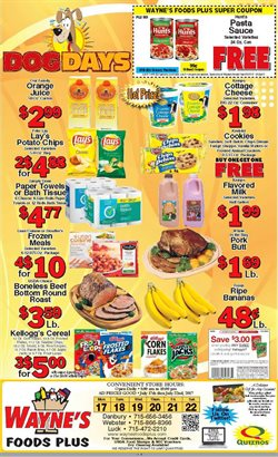 Wayne's Market deals in the Mansfield OH weekly ad