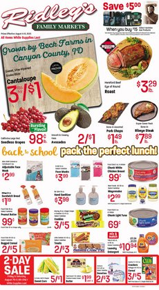 Grocery & Drug offers in the Ridley's Family Markets catalogue in Pocatello ID ( 2 days ago )