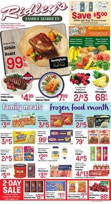 Ridley's Family Markets deals in the Ridley's Family Markets catalog ( Expires tomorrow)