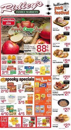 Ridley's Family Markets deals in the Ridley's Family Markets catalog ( 15 days left)