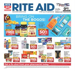 Rite Aid deals in the Raleigh NC weekly ad