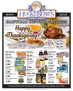 Huckleberry's Natural Market deals in the Spokane WA weekly ad