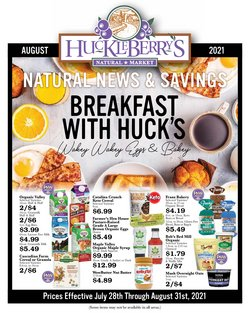 Huckleberry's Natural Market deals in the Huckleberry's Natural Market catalog ( 1 day ago)